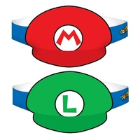 Super Mario Brothers Paper Hats 8 Pack