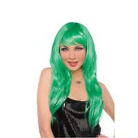 Glamorous Wig Green Costume Accessory