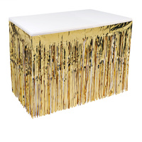 Gold Metallic Table Skirting 1-Ply