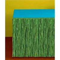 Table Skirt Grass Green Plastic x1