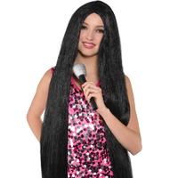 Turn Back Time 1980's Black Long Wig