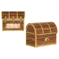 Pirate Party Supplies Treasure Chest Loot Boxes 4 Pack