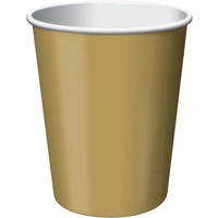 Glittering Gold Party Supplies Paper Cups 24 pack