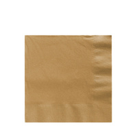 Glittering Gold Party Supplies Gold Lunch Napkins 50 pack