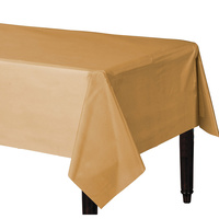 Glittering Gold Party Supplies Gold Plastic Tablecover