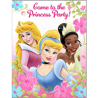 Princess Party Invitations 8 Pack