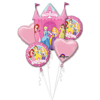 Disney Princess 1st Birthday 5 Foil Balloon Bouquet