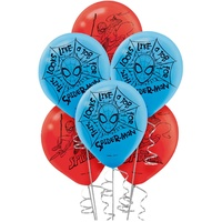 Spiderman Party Supplies - 6 Pack Latex Balloons