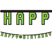 Game On Party Supplies Happy Birthday Jointed Banner