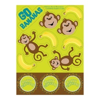Monkeyin Around Stickers 4 sheets per Pack