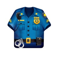 Police Party Supplies Police Shirt Shaped Dinner Plates