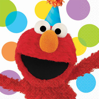 Sesame Street Elmo Party Supplies Lunch Napkins 16 pack