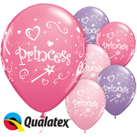 Princess Round Patterned Balloons Latex