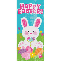 Easter Party Supplies Happy Easter Large Bunny Loot Bags x 20 Pack