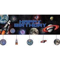 Space Party Supplies Space Blast Happy Birthday Banner with Attachments