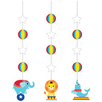 Circus 1st Birthday Party Supplies - Paper Lantern Garland