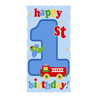1st Birthday Party Supplies Fun at One Boy Door Banner
