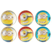 Despicable Me Party Minion Bounce Balls 6 Pack