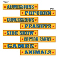 Circus Signs 4 pack