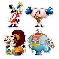 Circus Party Supplies Hanging Decorations 4 Pack