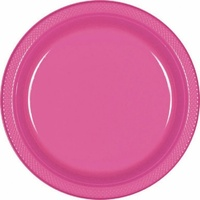 Bright Pink Party Supplies - Bright Pink Lunch Plates 20 pack