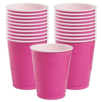 Bright Pink Party Supplies - Bright Pink Cups 20 Pack