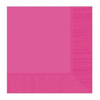 Bright Pink Party Supplies - Bright Pink Lunch Napkins 20 Pack