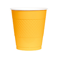 Sunshine Yellow Party Supplies Sunshine Yellow Cups 20 Pack