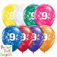 9th Birthday Star Balloons