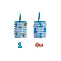 1st Birthday Boy Party Supplies Fun at One Boy Lantern Garland