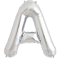 Silver Foil Large Letter Balloons 86cm Approx
