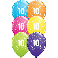 10th Birthday Star Age Balloons