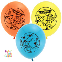 Disney Planes Party Supplies - Round Latex 1 Balloons