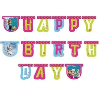 Disney Frozen Happy Birthday Letter Banner 2.15m