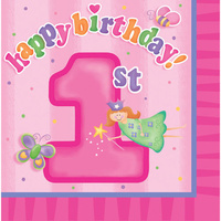 1st Birthday Party Supplies Fun At One Girl Lunch Napkin 16 Pack