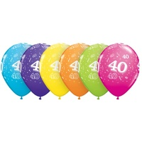 40th Birthday Party Supplies Latex Balloons