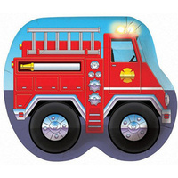 Firefighter Truck Shaped Plates 8 Pack