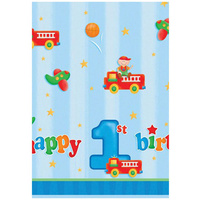 1st Birthday Party Supplies - Fun at One Boy Tablecover