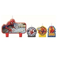 Spiderman Party Supplies Webbed Wonder Candle Set 4 Piece