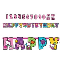 Hello Kitty Party Supplies - Happy Birthday Banner