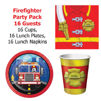 Firefighter Party Pack 16 Guests