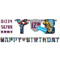 Transformers Party Supplies - Jumbo Add an Age Letter Banner