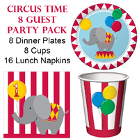 Circus Time 8 Guest Party Pack