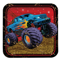 Monster Truck Lunch Plate 8 Pack