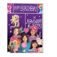 My Little Pony Party Supplies Scene Setter Backdrop 5 Piece with 12 Photo Props