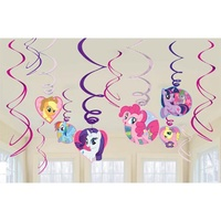 My Little Pony Party Supplies Hanging Swirl Decorations 12 pack