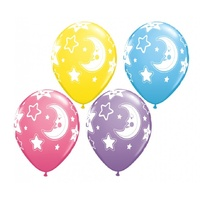Baby Shower Balloons Moon and Stars