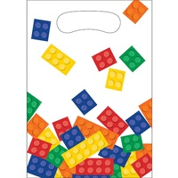 Building Block Party Supplies - Loot Bags 8 Pack