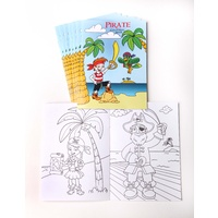 Pirate Colouring Books 8 Pack