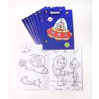 Space Colouring Books 8 Pack